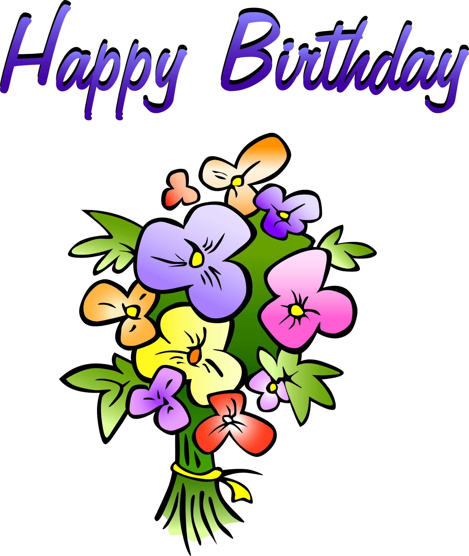 Happy Birthday Flowers Clipart   Clipart Panda   Free Clipart Images