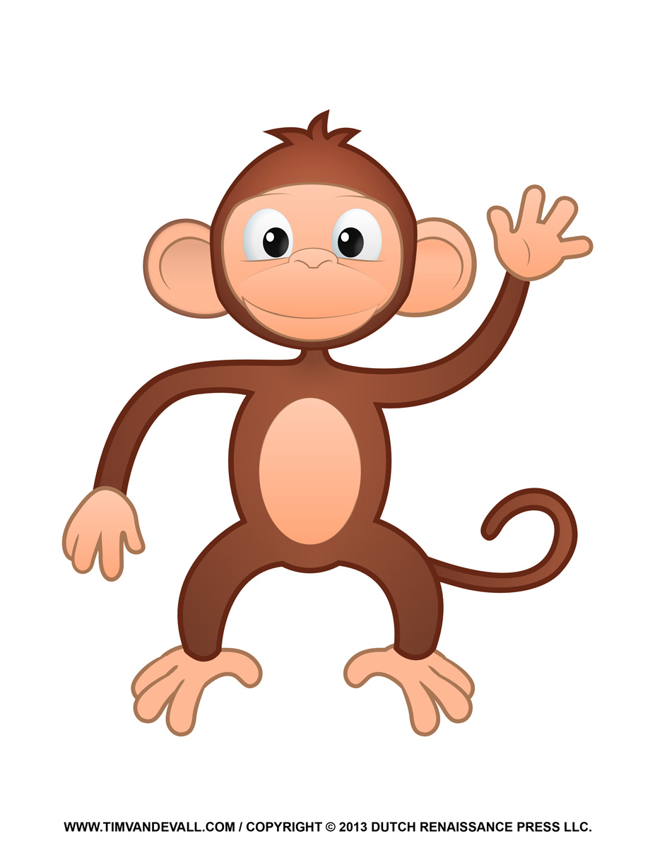 Cartoon Monkey Clipart - Clipart Kid