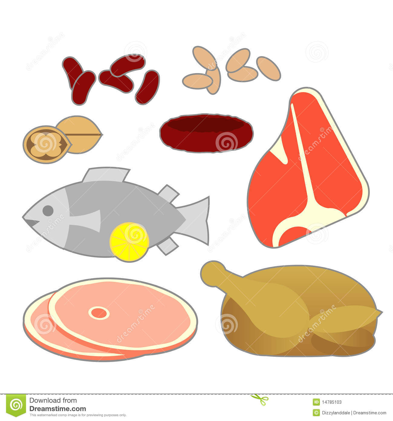 For Clip Art Protein Foods