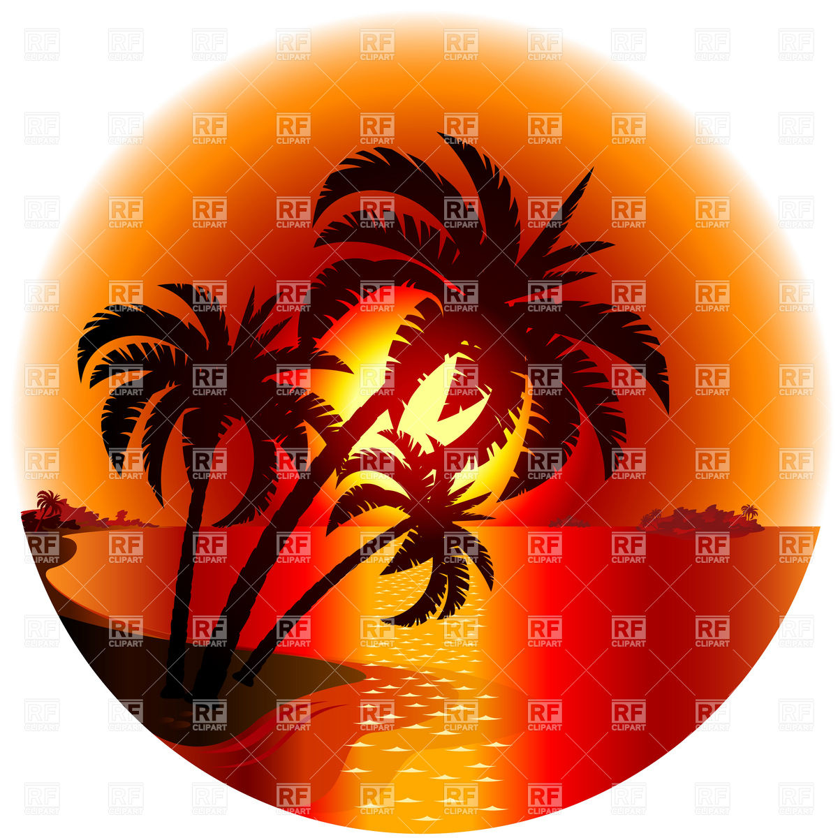 On A Tropical Island 7441 Download Royalty Free Vector Clipart  Eps