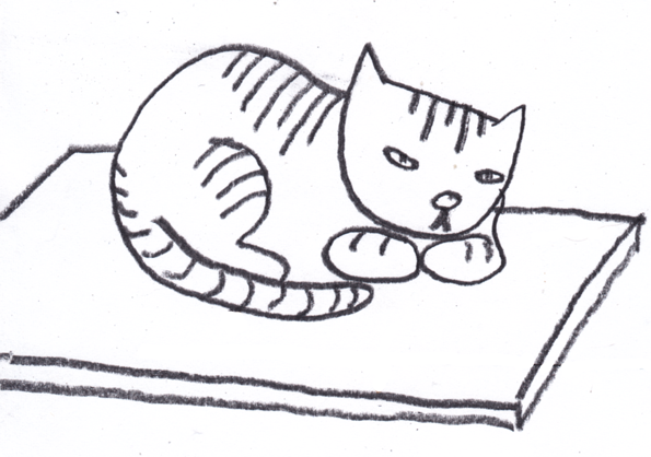 Sleeping Cat Clip Art Black And White Rug