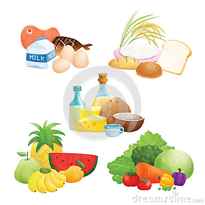 Protein Food Pyramid Clip Art