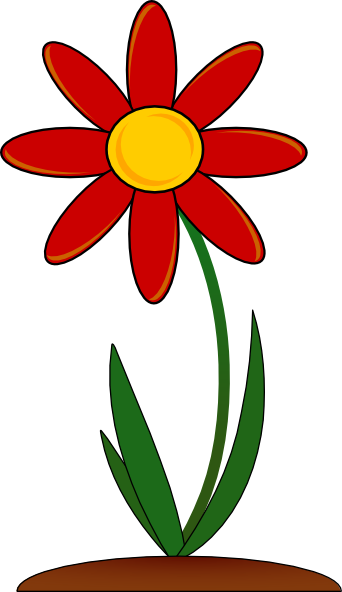 Red Flower Clip Art At Clker Com   Vector Clip Art Online Royalty