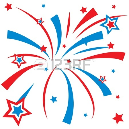 Red White And Blue Fireworks Clipart 12855009 Fireworks Jpg