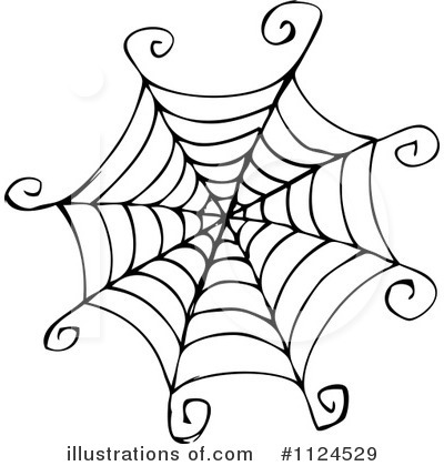Royalty Free  Rf  Spiderweb Clipart Illustration By Visekart   Stock