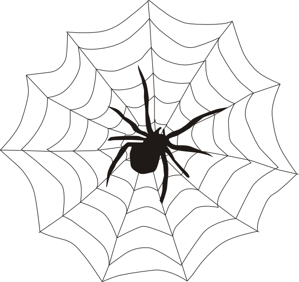 Spider And Web Clip Art At Clker Com   Vector Clip Art Online Royalty