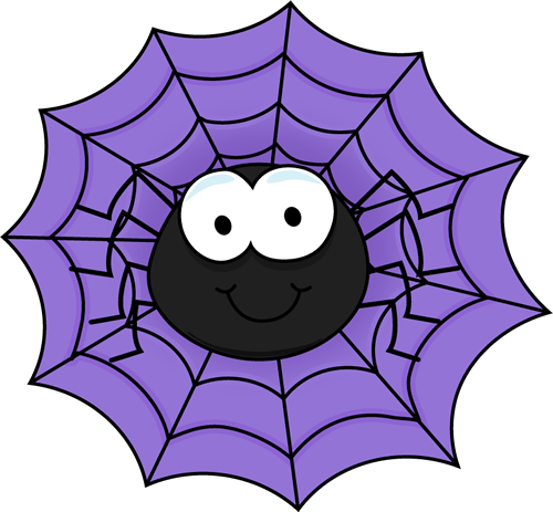 Spider In A Purple Spider Web Clip Art   Spider In A Purple Spider Web