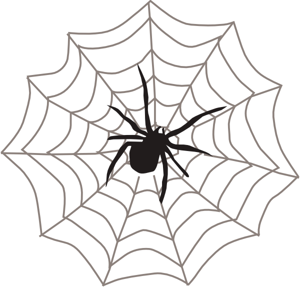 Spider With Web Clip Art At Clker Com   Vector Clip Art Online