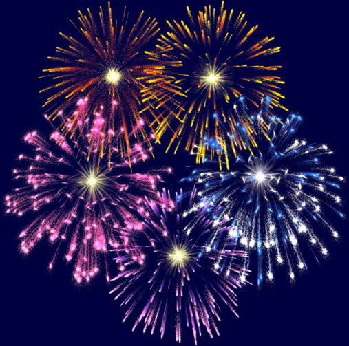 The Fireworks Clip Art Above Has Been Reduced 50