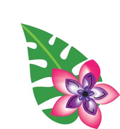 Hawaiian Flower Clipart - Clipart Kid