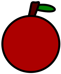 Very Simple Apple Clip Art
