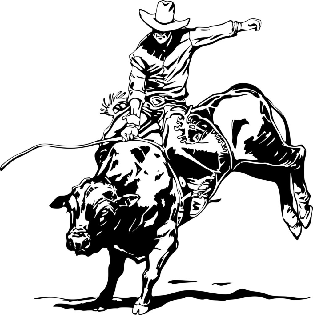 Wall Decals And Stickers Rodeo Bull Riding Designwithvinyl