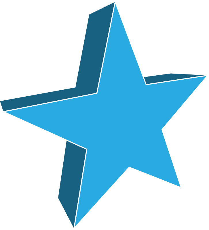 3d Star By Jgm104   A Blue 3d Star