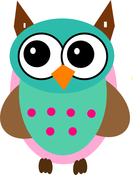 Aqua   Pink Owl Svg Downloads   Cartoon   Download Vector Clip Art