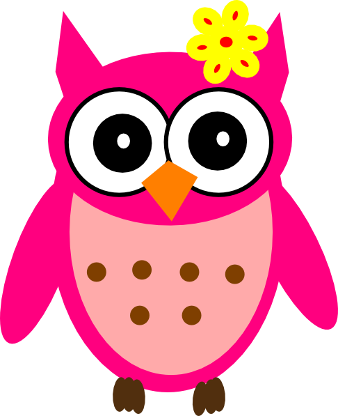 Baby Girl Owl With Bow Clip Art At Clker Com   Vector Clip Art Online