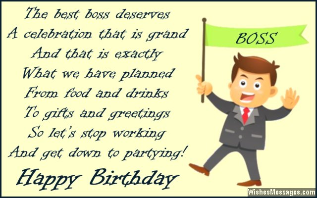 Birthday Quotes For Bosses   Birthday Card Poem To Boss From Employees