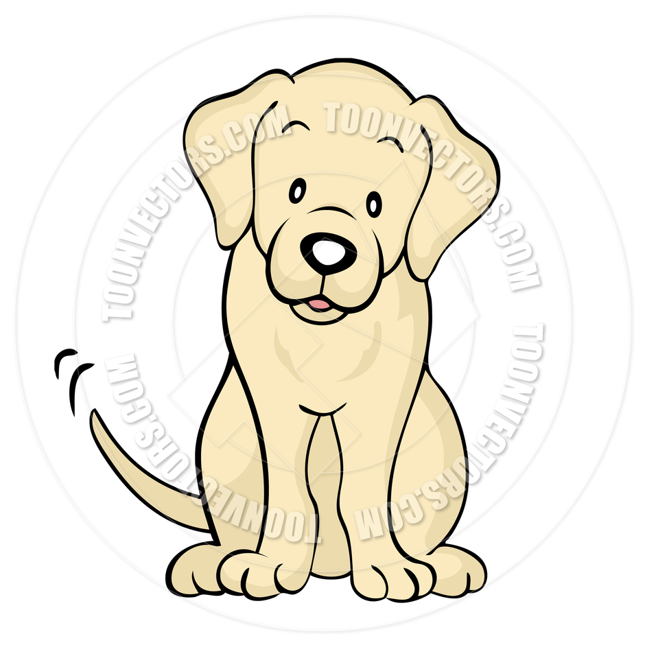 Cartoon Yellow Labrador Dog Isolated By Cartoongalleria   Toon Vectors