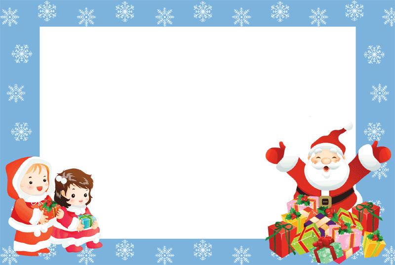 christmas borders and frames 6 blue borders 2