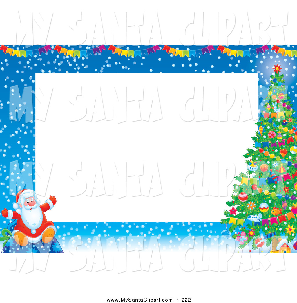 Christmas Clip Art Of A Santa Claus Sitting Down On A Toy Sack In The