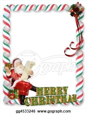 Christmas Santa Border   Stock Clipart Gg4533246   Gograph