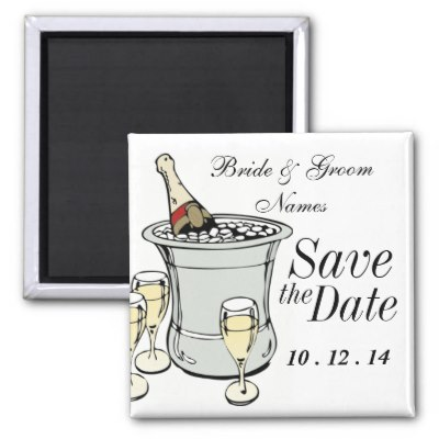 Clipart Wedding Save The Date Magnets Customise With Your Wedding Date