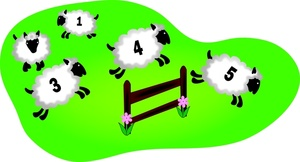 Counting Sheep Clip Art Images Counting Sheep Stock Photos   Clipart