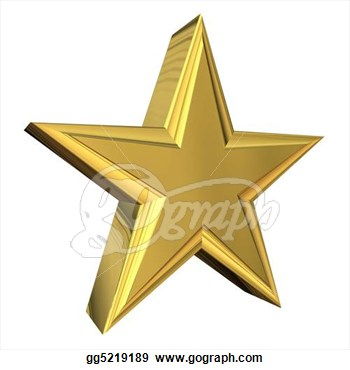 Drawing   Gold 3d Star  Clipart Drawing Gg5219189   Gograph