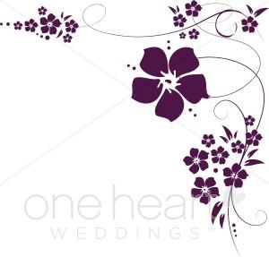 Lilac Flowers Border Clip Art