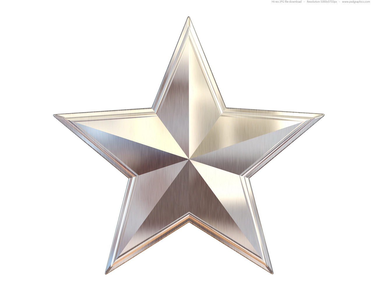 Gold Silver And Bronze Metal Stars   Psdgraphics