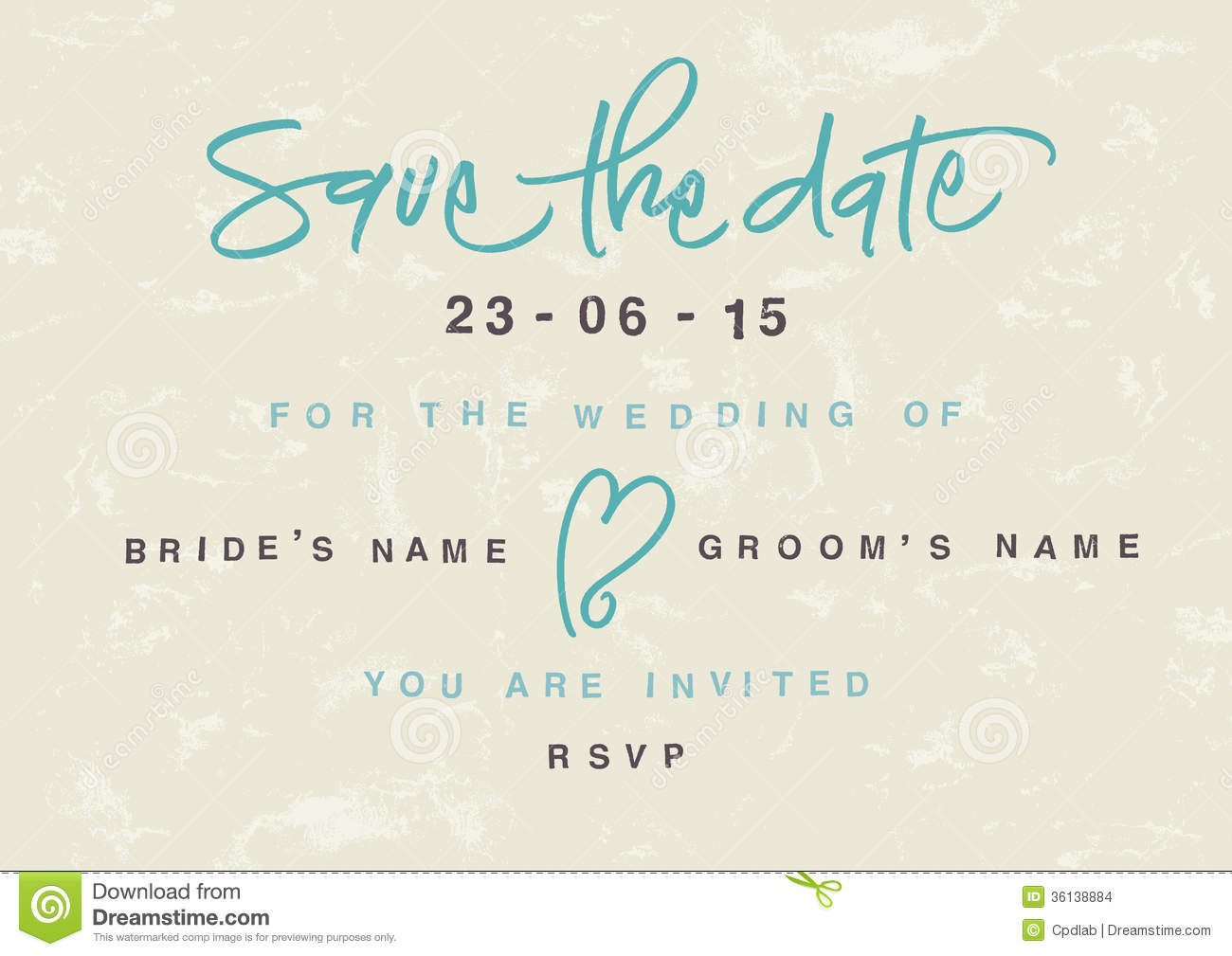Hand Written Save The Date  Eps Vector File  Hi Res Jpeg Included