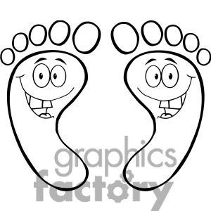 Happy Feet Outline Cartoon   Kids Images Silhouettes   Pinterest