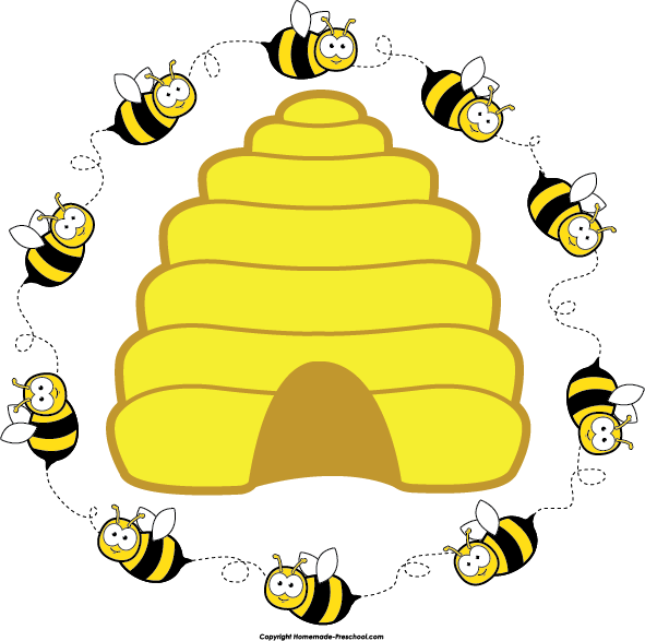 Home Free Clipart Bee Clipart Beehive Bee Circle