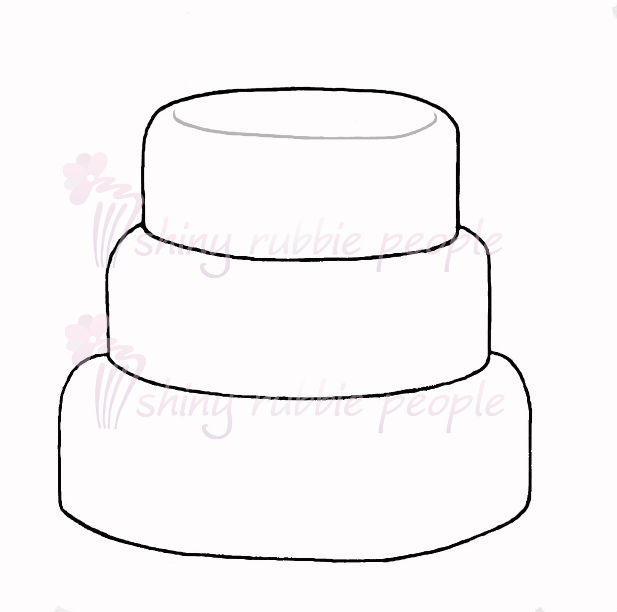 Free Clip Art Layer Cake : Clip Art Black And White Tiered Cake Clipart - Clipart Suggest