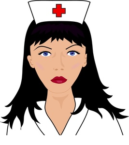 Nurse Clip Art Medical Nurse With Hospital Uniform And Dark Hair 0515