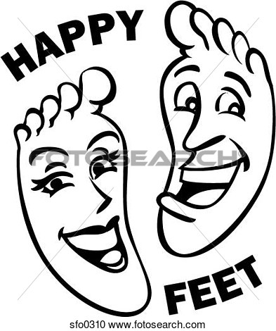 Of Feet With Smiley Faces And The Words Happy Feet Written Around Them