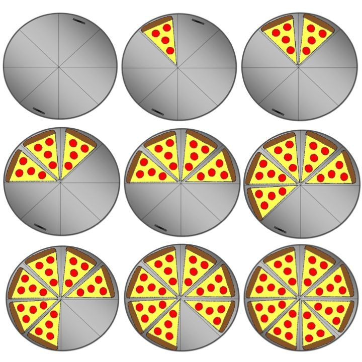 Pizza Fraction Clipart - Clipart Suggest