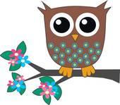 Printable Girl Owl Clipart