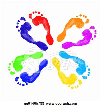 Prints Of Human Feet  Clipart Illustrations Gg61465788   Gograph