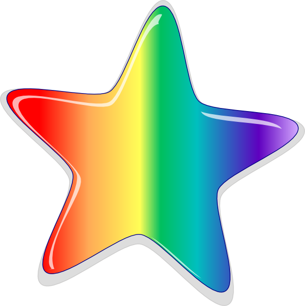rainbow star clip clipart stars starburst vector clker pride gay royalty clipartix hi night ki cartoon transparent emoji reader trawden