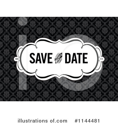 Save The Date Clipart  1144481 By Bestvector   Royalty Free  Rf  Stock