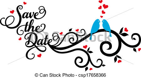 Save The Date Wedding Birds