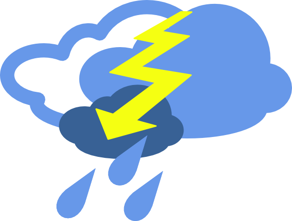 Severe Thunder Storms Weather Symbol Clip Art At Clker Com   Vector