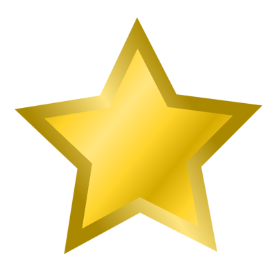 Star D Gold Transparent   Free Images At Clker Com   Vector Clip Art