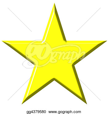 Stock Illustration   3d Star  Clipart Illustrations Gg4379580