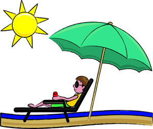 Sunbathing Clipart Image  Clipart Illustration Of A Young Man Relaxing