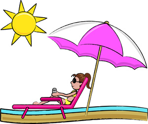 Vacation Clipart Image   Woman On Vacation Relaxing And Getting A