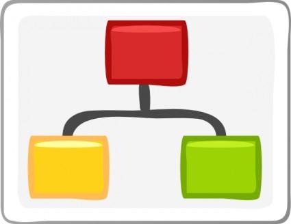 diagram clipart   clipart kidblock diagram visio hierarchy clip art free vector in open office