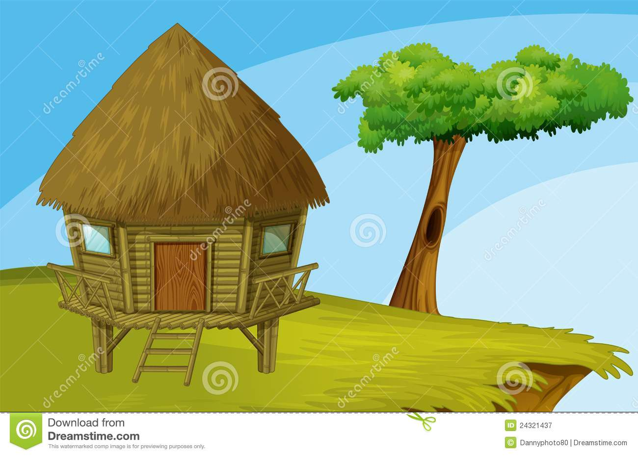 Cartoon Hut Royalty Free Stock Photography   Image  24321437