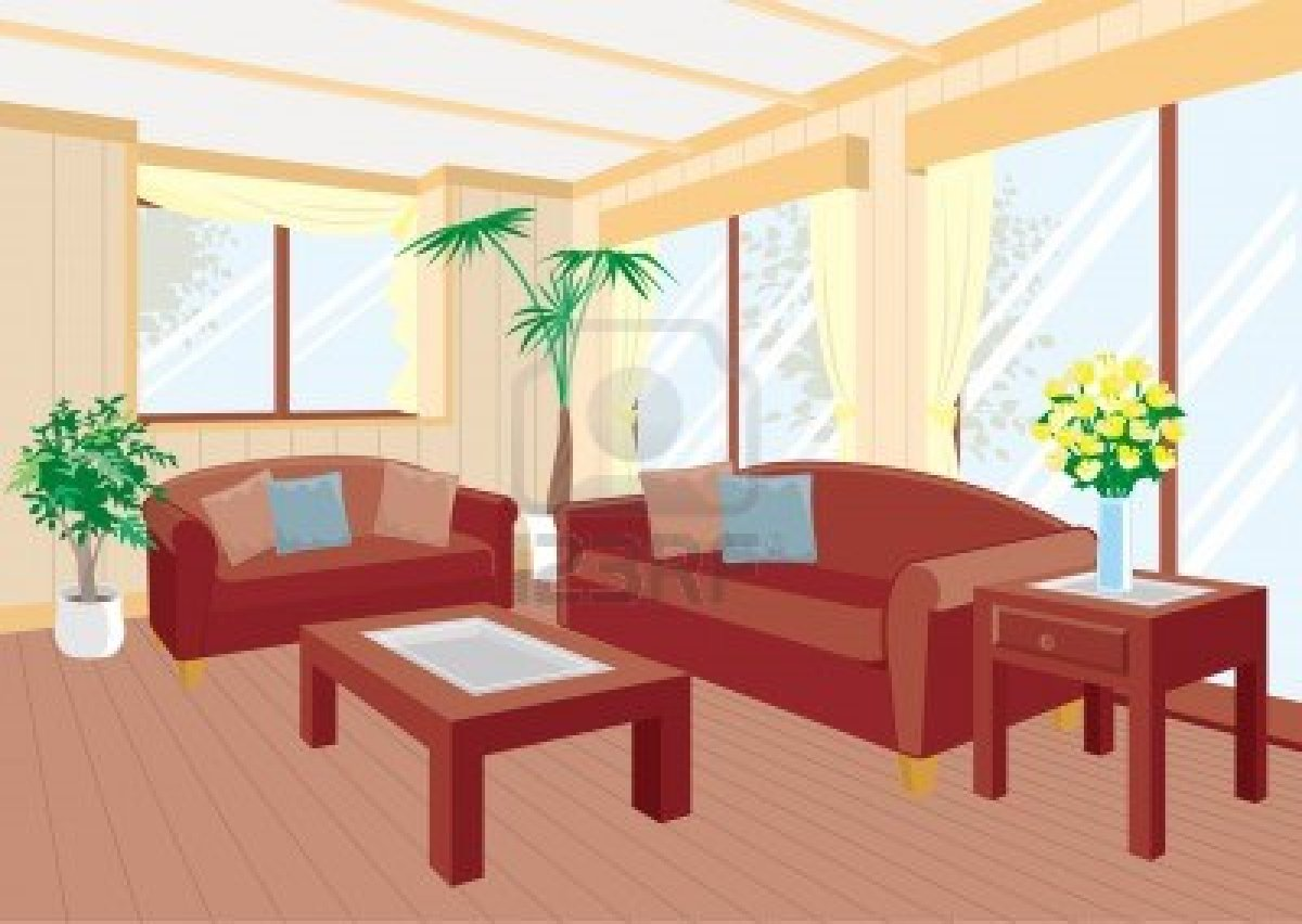 Cartoon Living Room Clipart Living Room 3gQaXt