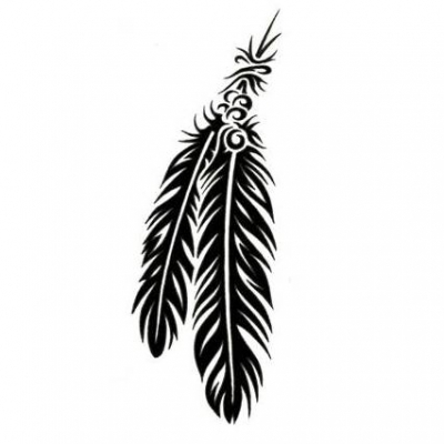 Cat Gorie  Tatouage Plume Tribal   Image  Tribal Feather Tattoo 24